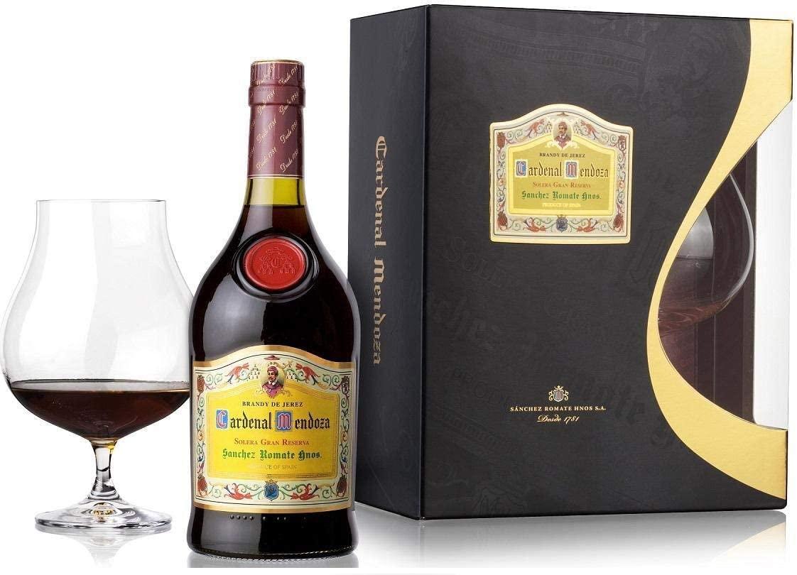 Cardenal Mendoza Brandy mit Glas